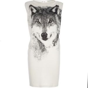 Stella McCartney Wolf T-Shirt Shift Dress Size 10